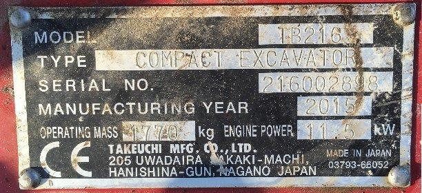 takeuchi tb 216